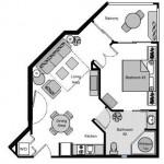 Standard 1BR Floor Plan